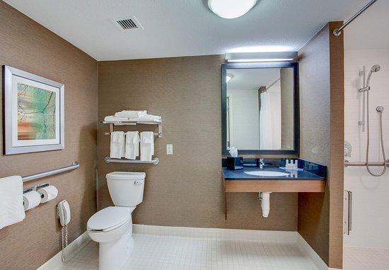 เอมส์บิวรี, แมสซาชูเซตส์: Accessible Guest Bathroom with Roll-in Shower