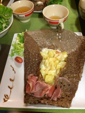 Argenton-sur-Creuse, Γαλλία: galette au Maroilles