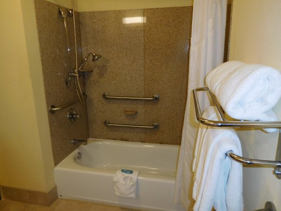Holiday Inn Express Hotel & Suites Ponca City: ADA Accessibly bathroom