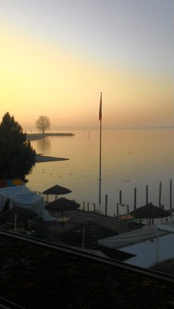 Staad, Sveits: Sonnenuntergang am Bodensee
