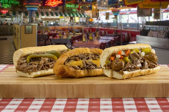 Harwood Heights, IL: Italian Beef Sandwiches, Beef & Cheddar Croissant, Combo