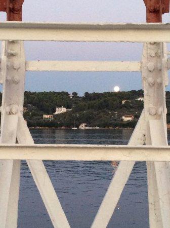Skiathos Town, Greece: full moon
