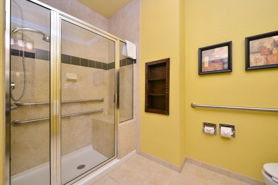 Holiday Inn Hotel & Suites McKinney - Fairview: Accessible bathroom (not a roll in shower) - shwr chr avail.