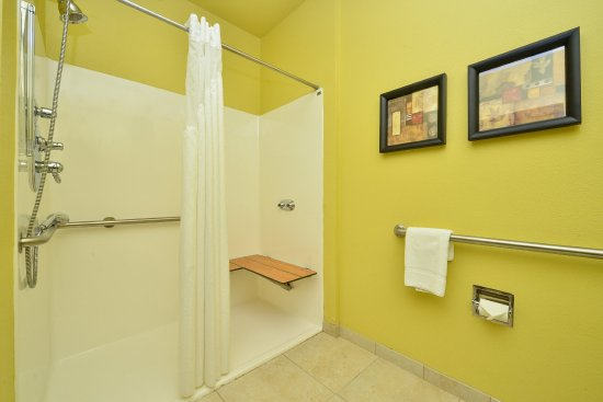 Holiday Inn Hotel & Suites McKinney - Fairview: Roll in shower (two queen beds accessible only)
