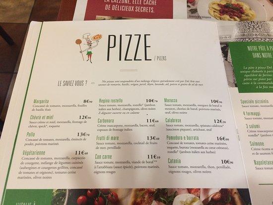 pizzeria del arte carte La carte des pizze   Picture of Del Arte Jouy aux Arches   Tripadvisor