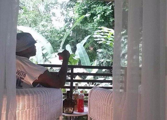 Cocles, Costa Rica: Balcony area