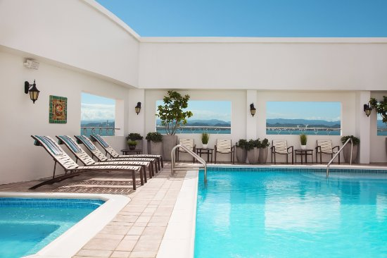 Sheraton Old San Juan Hotel: Rooftop pool & hot tub with new lounges and chairs