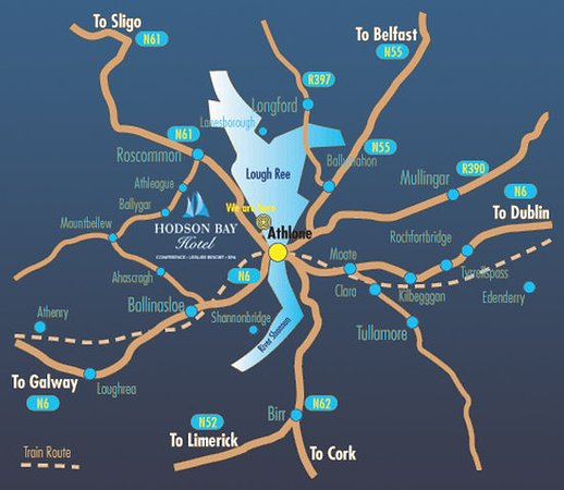Athlone, Irlanda: Map