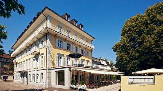 Rheinfelden, Szwajcaria: Hotel Schützen from Bahnhofstrasse