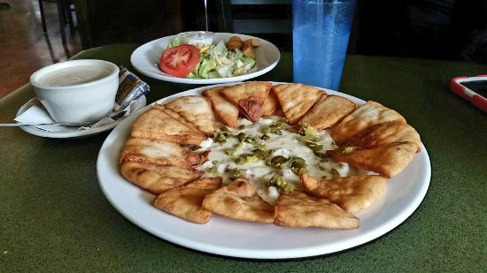 Monroe, WI: Sausage and Jalapeno Cheese dip served with pita bread