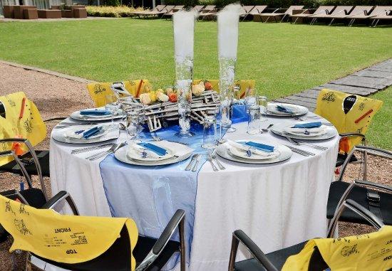 Kempton Park, South Africa: Aviation Themed Event - Banquet Set-Up