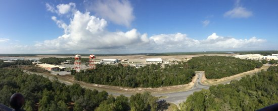 Pensacola Lighthouse and Museum: view toward the base where the Blue Angels stationed
