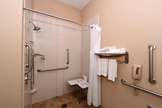 Holiday Inn Express & Suites Bridgeport: Guest Bathroom w/ Roll-in Shower