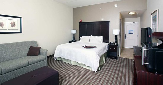 Hampton Inn & Suites Swansboro / near Camp Lejeune at Bear Creek Gate: King with Sofabed Area