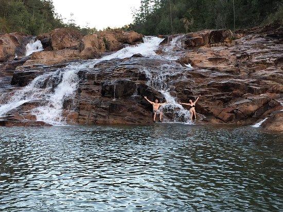 Gaia Riverlodge: Fun waterfalls to swim and explore and relax