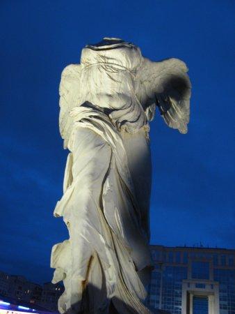 Esplanade d'Europe: The Nike statue