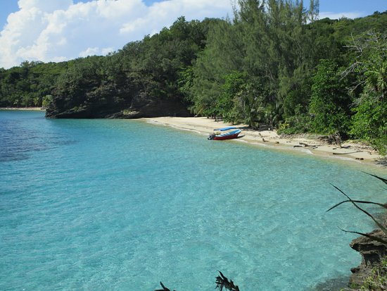 East End, Honduras: El Playon beach, near Cabanas Laru Beya (20 min walk)