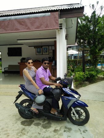 Bamboo Beach Hotel & Spa: Bikers ready to drive