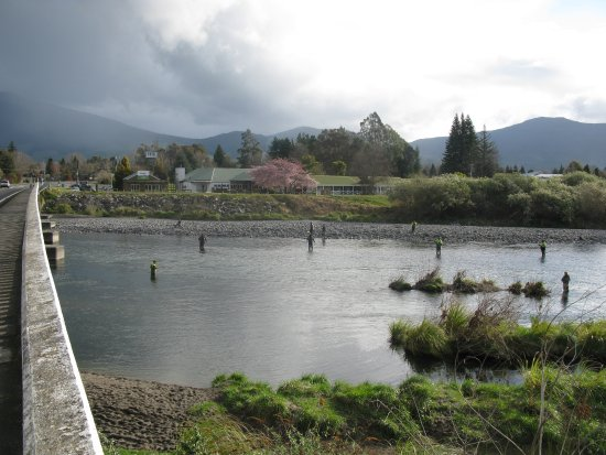 Turangi, Nueva Zelanda: How close to great fishing can you get?
