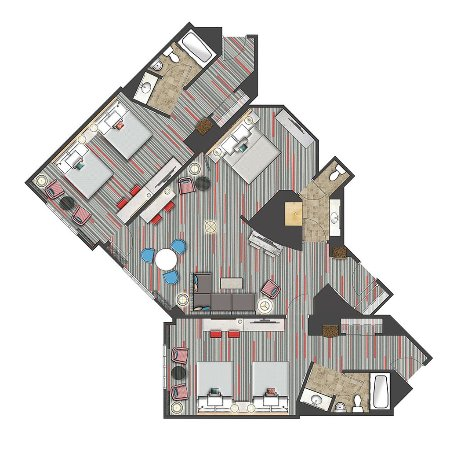 Room Diagram - Hospitality Suite - Picture of Hard Rock Hotel at ...