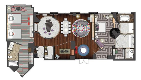 Elegant Hard Rock Hotel At Universal Orlando: Room Diagram   Graceland 2 Bedroom  Suite