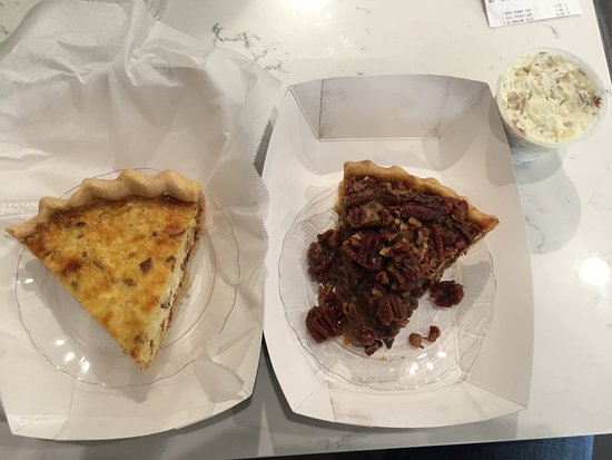 Wright's Gourmet House: Quiche Lorraine, Pecan Pie, and Dill Potato Salad