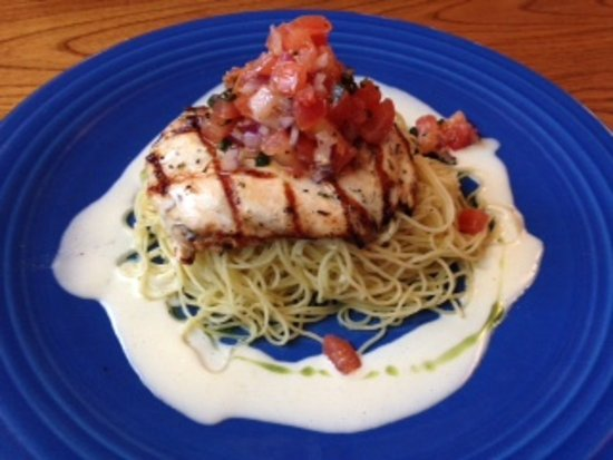 Kill Devil Grill: Chicken Breast with Angel Hair Pasta and Butter Sauce