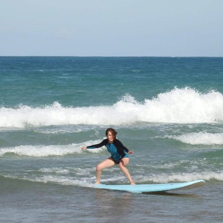 East Island Surfing Adventures: on the board, with the right posture!!