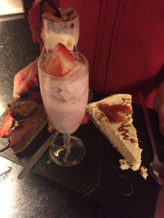 Guisborough, UK: The dessert was a selection of desserts