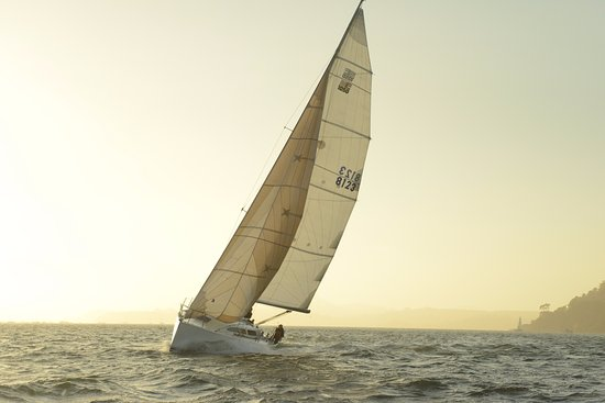 Sausalito, Kalifornien: Sunset sail in the Bay