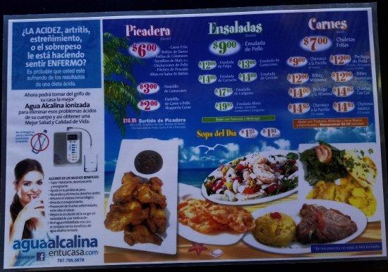 Food menu picture of la garita waterfront bar rest for Bar food la menu