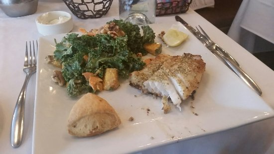 Potomac, MD: The cod with a nice pumpkin seed crust. $14.