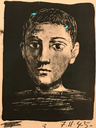 Norton Simon Museum: Pablo Picasso self-portrait as a boy although he was approximately 60 at the time.