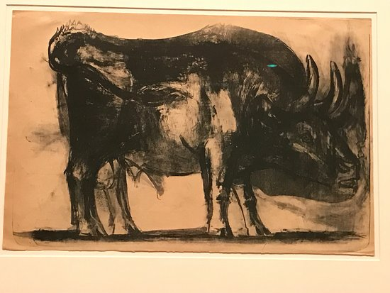 Norton Simon Museum: The first frame of the bull.