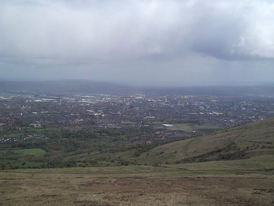Black Mountain: Harland & Wolff cranes, (Samson and Goliath), in the distance.