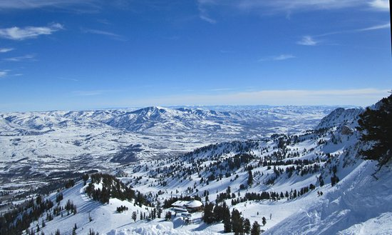 Huntsville, UT: A view from the men's downhill above the John Paul Lodge