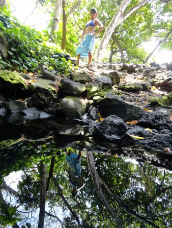 Pahoa, Hawái: Pohoiki's warm pond. Not so secret. Ask any local. Or just walk down the coast about 100 yards.