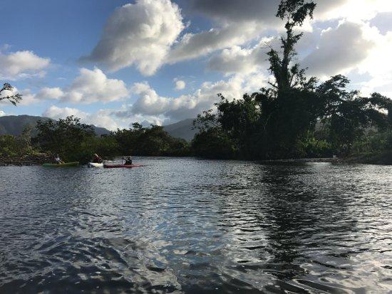 Sleeping Giant Lodge: Kayaking on the river