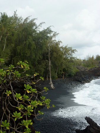 Pahoa, HI: The beach ebbs and flows. Sometimes smaller, sometimes twice as big. But is sand!