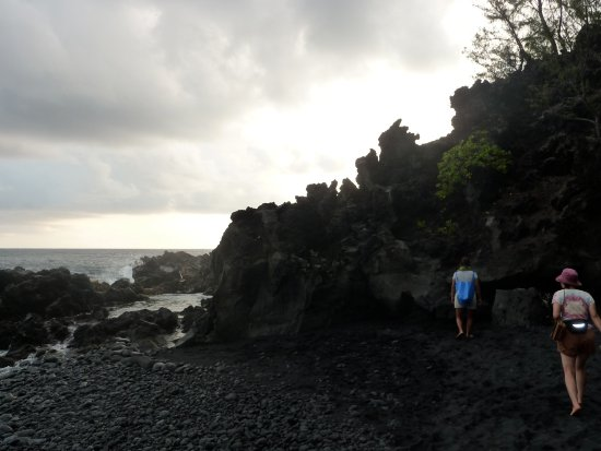 Pahoa, HI: Climbing back tothe car. No one cares if you take it off or not.