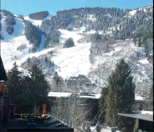 The Limelight Hotel: View from our room- you can see the skiers coming down Aspen Mountain!
