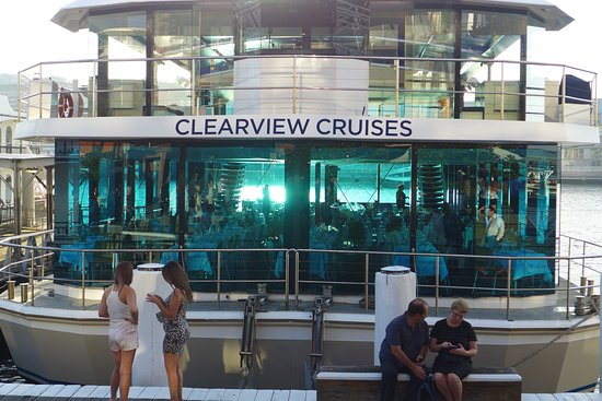Clearview Blue Room Glass Boat