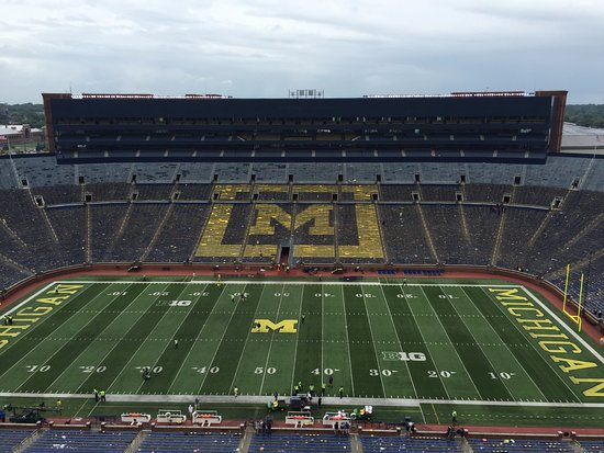 Ann Arbor, MI: An awesome view from the press box after the game!