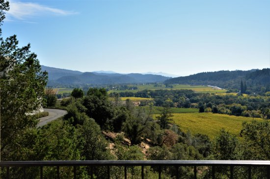 Sterling Vineyards: View from the first stop