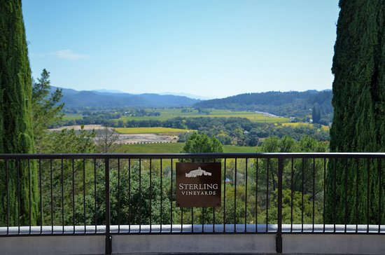 Sterling Vineyards: view from the last stop