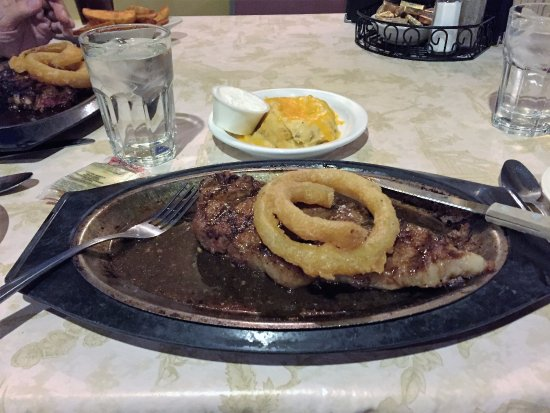 Seymour, WI: NY Strip Steak with Twice Baked potato