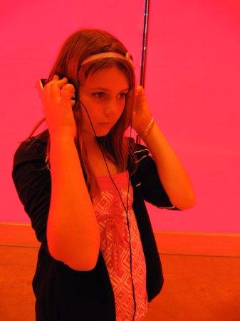 Gold Coast, Australia: Listening to an art installation Art Gallery Brisbane