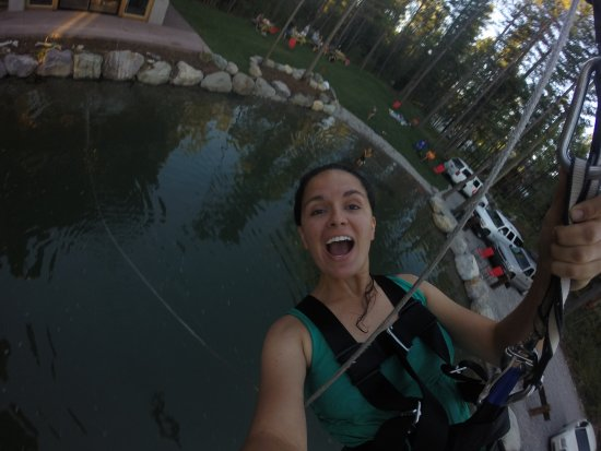 Coram, MT: On the big swing with water drop