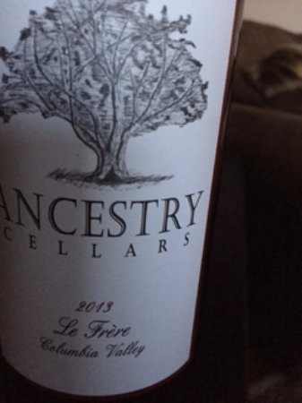 Manson, WA: Label for Ancestry Wine