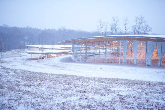New Canaan, CT: Grace Farms in the Snow